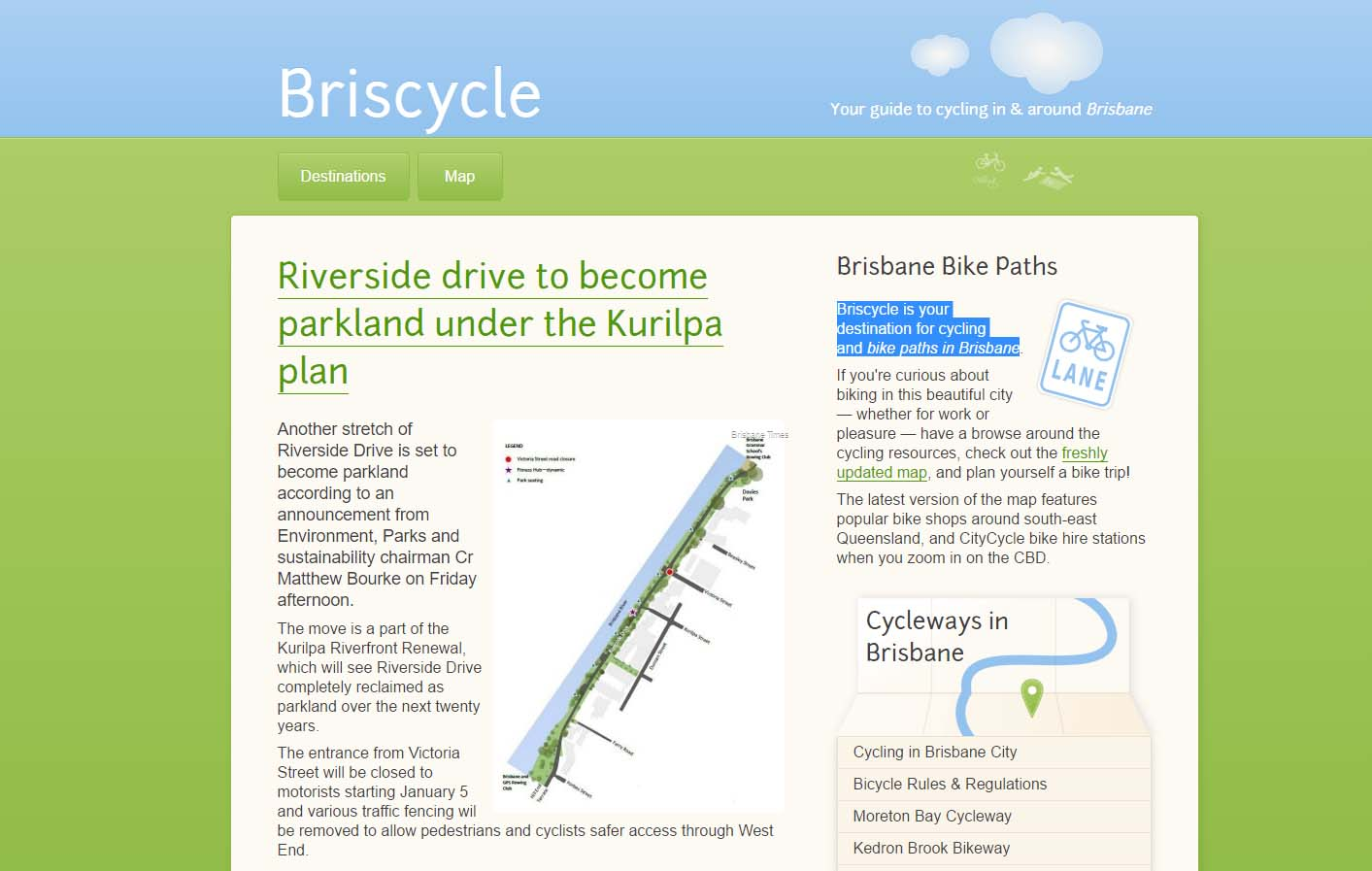 Briscycle - cycling in Brisbane